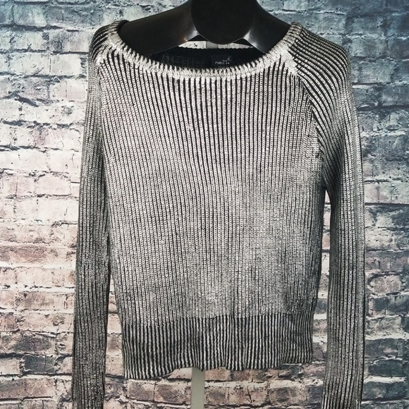 Rue21 Sweaters - Rue 21 O Neck Metallic Silver Sweater XL